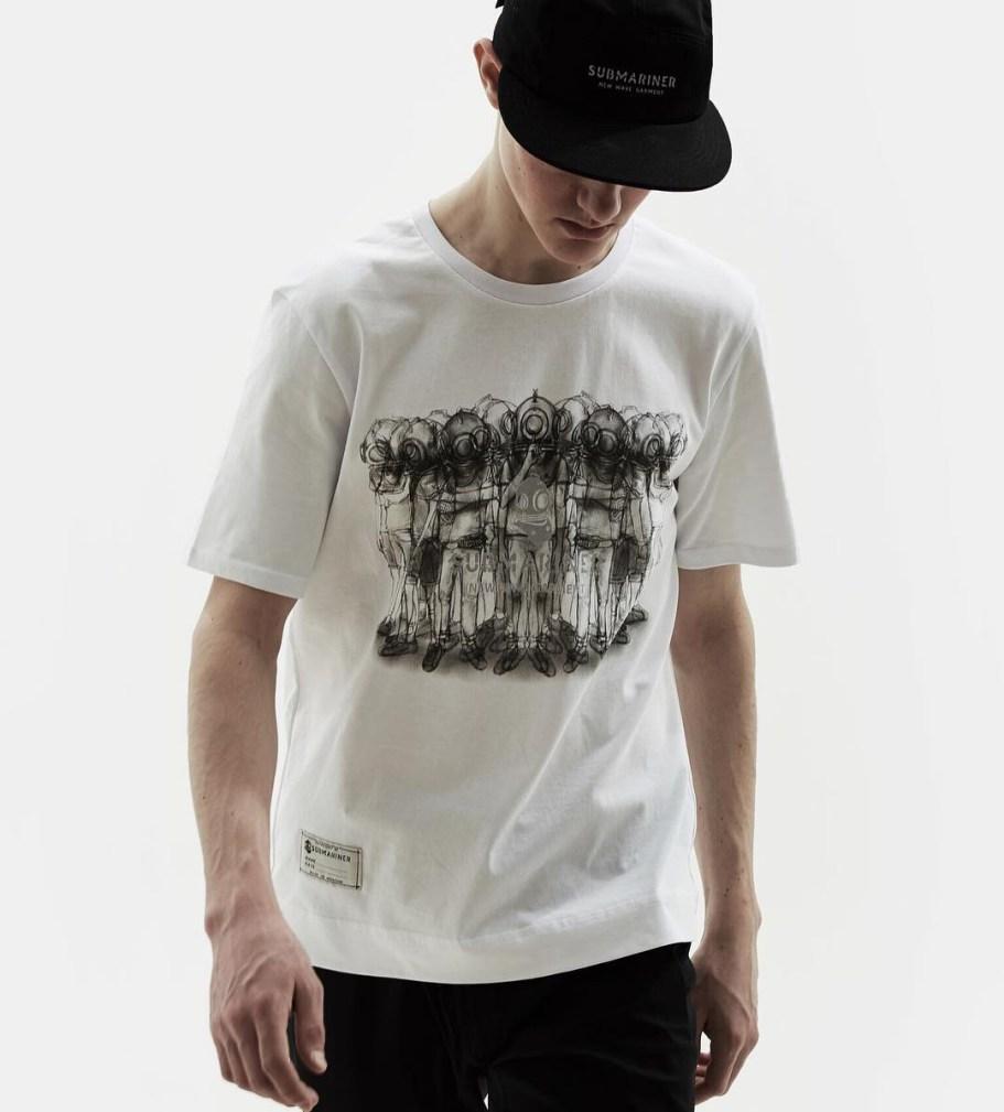 submariner футболка белая