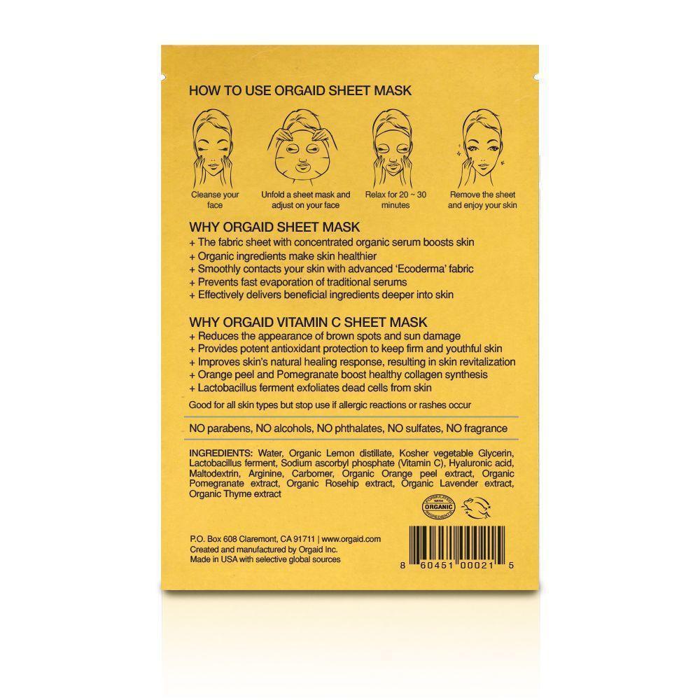 ORGAID Rewitalizująca Maska Witamina C | SoBio Beauty Boutique skład