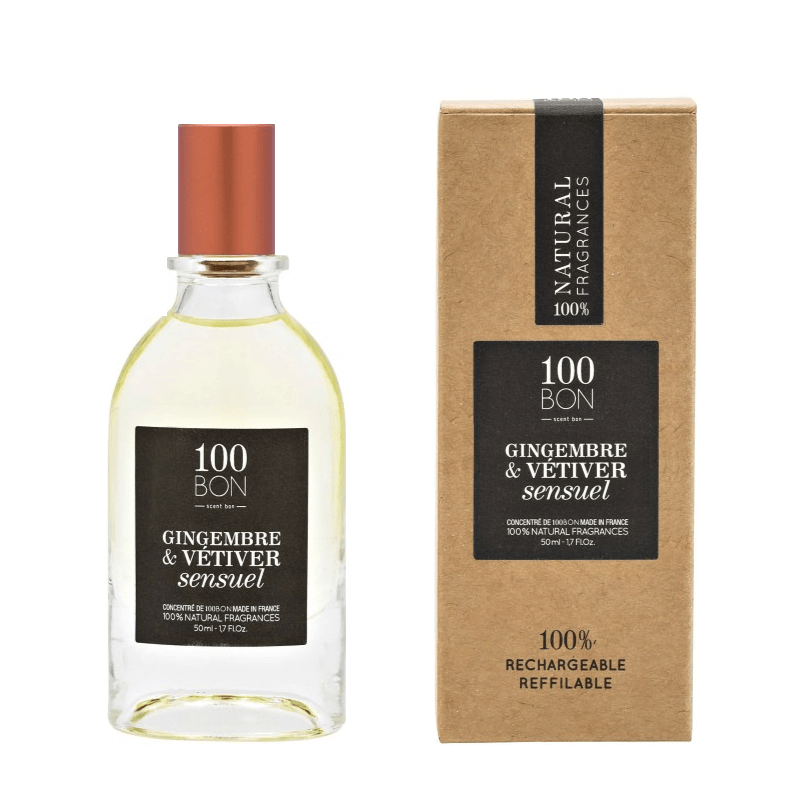100BON GINGEMBRE & VÉTIVER SENSUEL 50 ml | SoBio Beauty Boutique