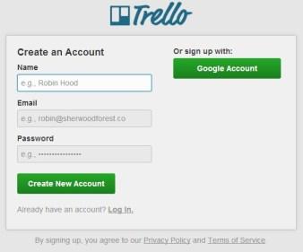 регистрация в Trello