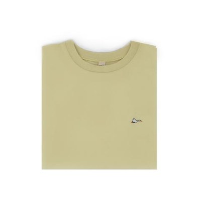 T-shirt homme jaune sobo, écoresponsable et made in France. En piqué de coton bio