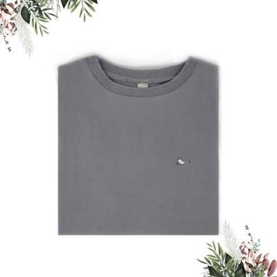 T-shirt femme gris sobo, écoresponsable et made in France. En piqué de coton bio