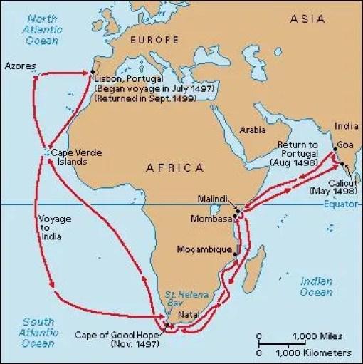 Portugal intentaba llegar a las Indias bordeando África