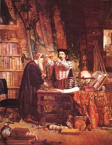 El alquimista, cuadro de sir Williams Fettes Douglas
