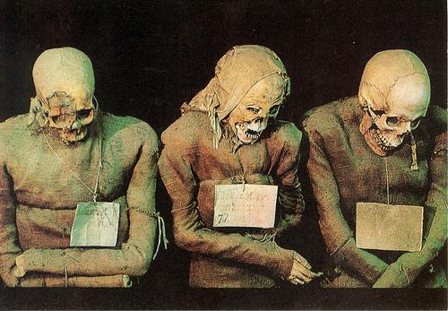 Muertos de las catacumbas de los Capuchinos.