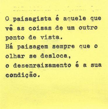 Nelson Brissac Peixoto, no livro Paisagens Urbanas _2