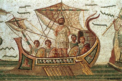 Resultado de imagen de mosaico ulises atado al barco