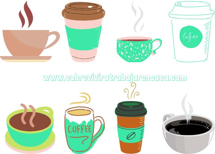 cafe en el teletrabajo