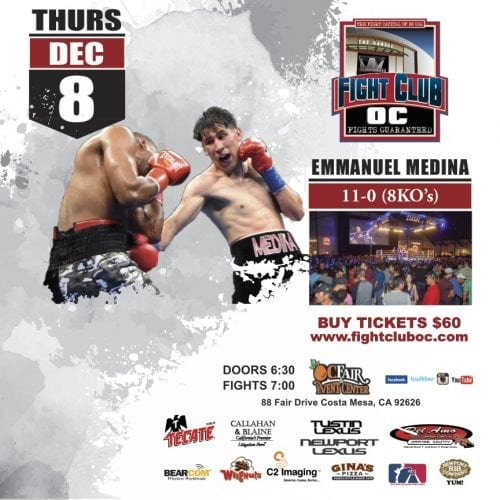 Four Fighters Look To Stay Undefeated On Final Fight Club OC Show of 2016