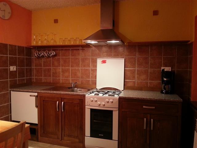 Soča Home Bovec apartment kitchen.
