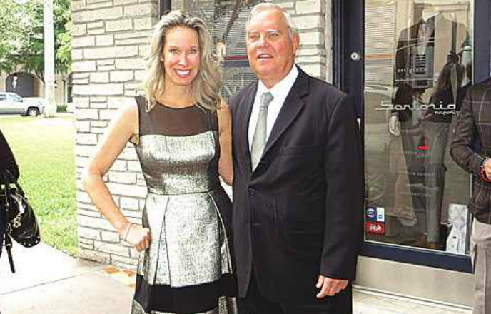 """Lori Dennis, renowned interior designer and star of HGTV's """"The Real Designing Women,"""" is pictured with Coral Gables Mayor Jim Cason."""