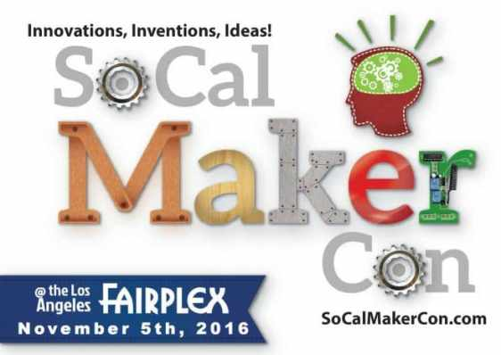 Does your child love science and technology? Then take them to the annual SoCal Maker Convention on Nov. 5 in Pomona! Here kids can make a boba balancer, interact with dinosaurs from Dino Encounters, take a coding class and learn how animated movies are made. All hands on activities are make and take projects! Get free admission tickets for schools and clubs.