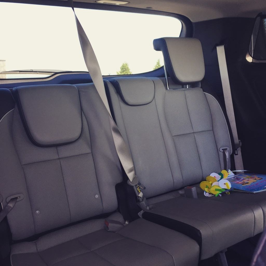 On numerous occasions while on vacation, I found my children passed out in the back seat enjoying their luxury seats.