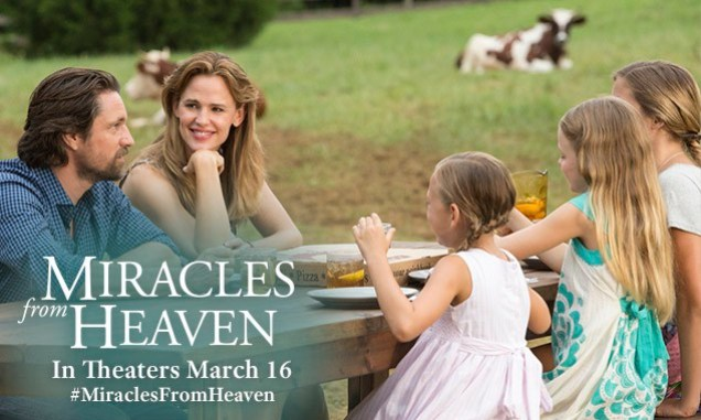 Miracles From Heaven opens on March 16, 2016 nationwide.