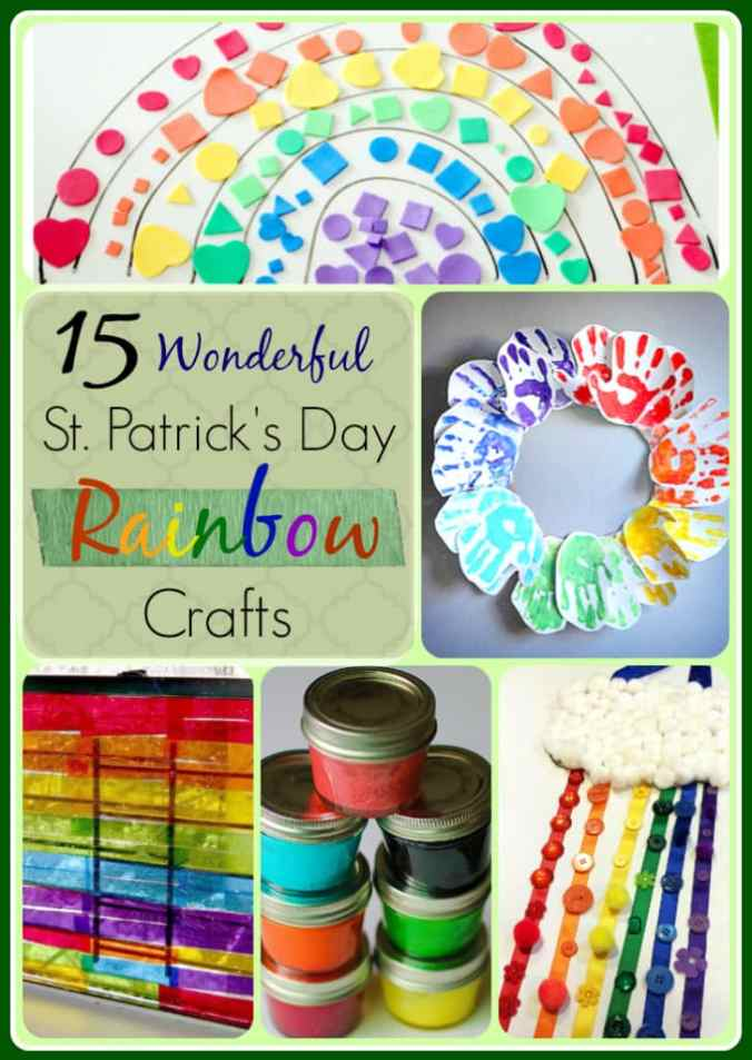 15 Wonderful Rainbow Crafts for Kids. Perfect for either St. Patrick's Day or a children's birthday party.