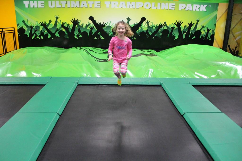 Rockin' Jump is an indoor play area where kids can soar in open jump arenas, dive into pools of soft foam cubes, play trampoline dodgeball, and do flips and somersaults.