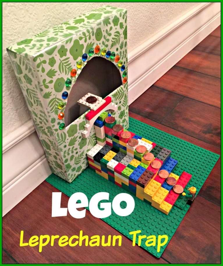 How to make a leprechaun trap with step by step directions and pictures