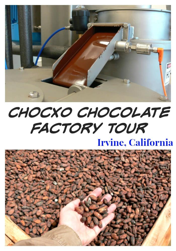 ChocXO is a chocolate factory in Irvine, CA that offers chocolate tastings, behind the scenes group tours of the chocolate making process and field trips.