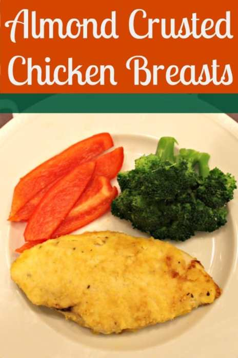 Are you looking for a healthy friend chicken recipe? Check out this Almond Crusted Chicken Breasts recipe that you bake in the oven instead of fry on the stove. This chicken recipe is also gluten free.
