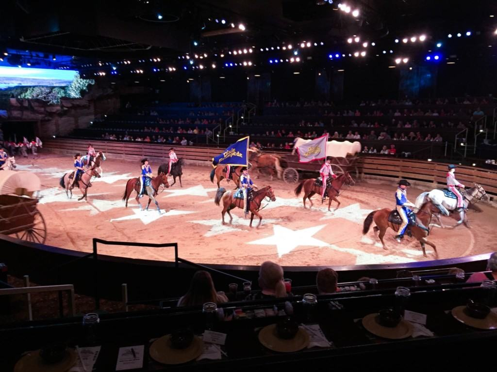 Are you planning a vacation to Branson, Missouri? Then be sure to check out Dolly Parton's Dixie Stampede Dinner Show! It is an extraordinary show with 32 magnificent horses and a cast of top-notch riders. The performers thrill you with daring feats of trick riding and competition, pitting North against South in a friendly and fun rivalry. You will also enjoy a barrel full of music, dancing, special effects and family friendly comedy along the way. Dinner and drinks are provided.