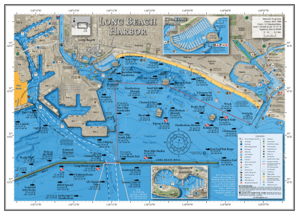 Long Beach Harbor Fishing Map