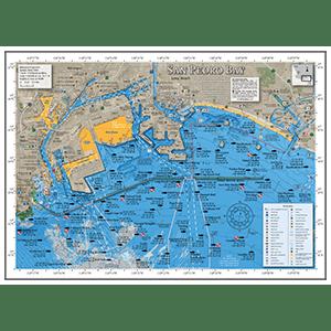 San Pedro Bay Fishing Map
