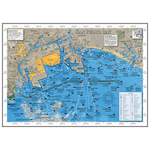 San Pedro Bay Fishing Map