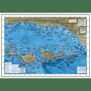 Santa Barbara Channel Fishing Map