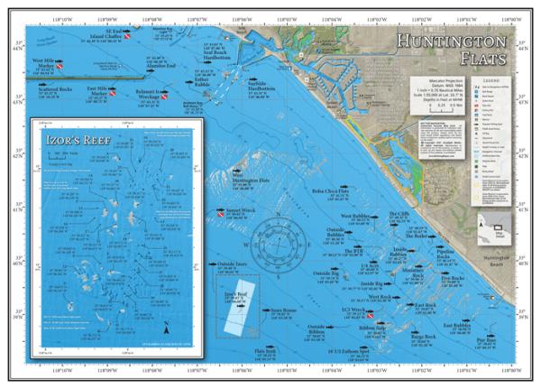 Huntington Flats Fishing Map