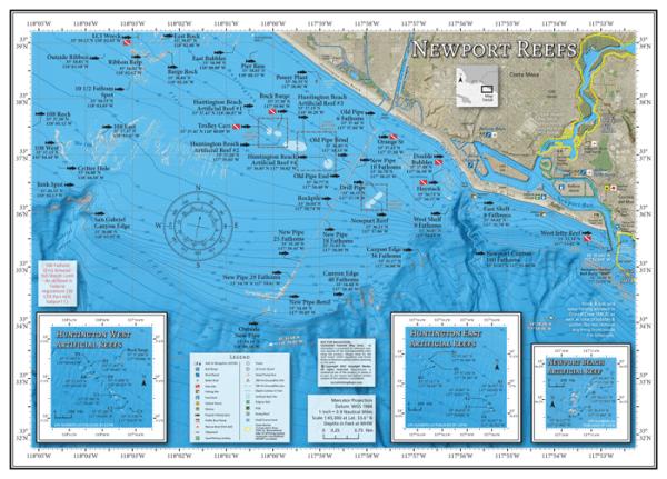 Newport Reefs Fishing Map