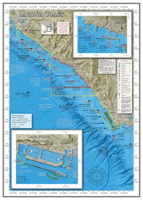 Laguna Coast Fishing and Diving Map