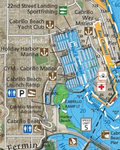 Close-up of Horseshoe Kelp Fishing Map