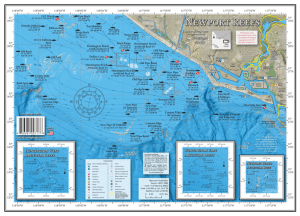 Newport Reefs fishing and diving map