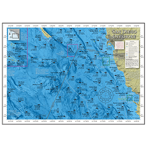 Thumbnail image of San Diego Offshore Fishing Map