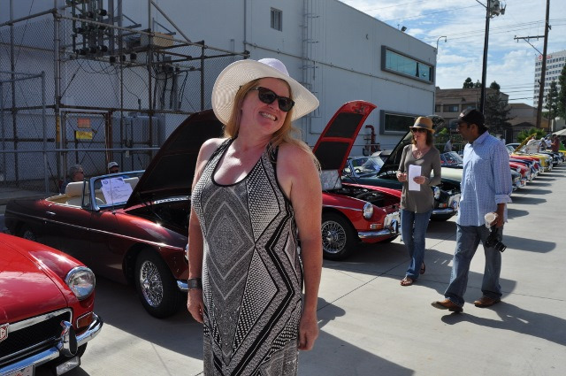 Judy at 2014 Boots and Bonnets Car Show