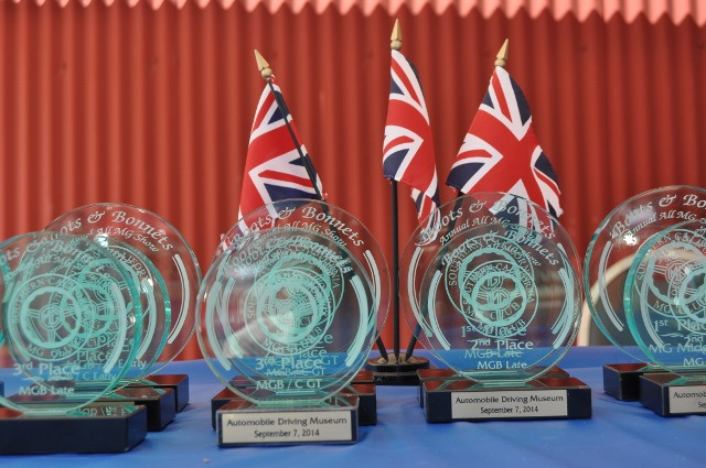 The Trophies at 2014 Boots and Bonnets Car Show at ADM