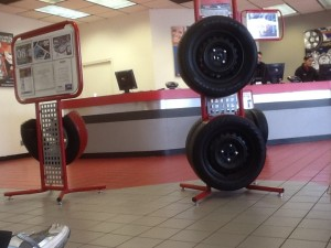 Happy Holidays at the tire store