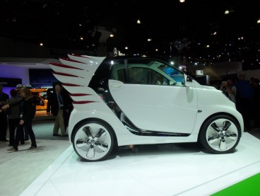 Jeremy Scott's wild smartcar fortwo on display at the LA Auto Show