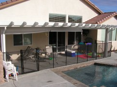 removable fence patio