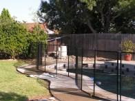 black removable fence