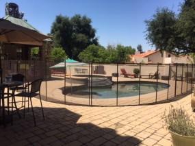 circular pool fence