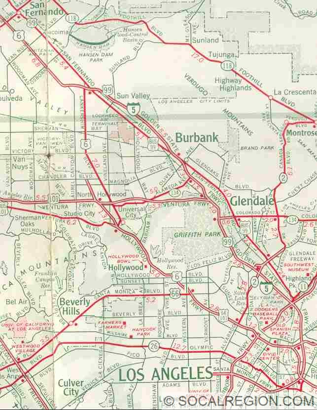 Virtual Tour Of US Introduction Southern California Regional - Us 66 map