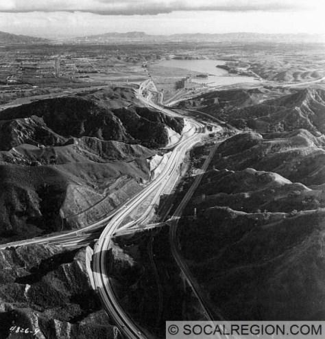 Looking South towards the San Fernando Valley.