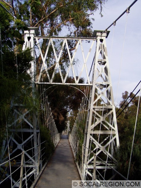 Through the towers on the Spruce Street Bridge