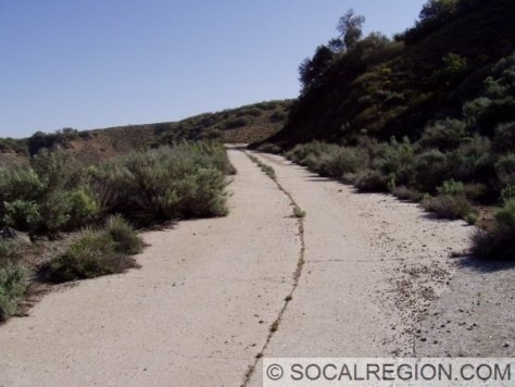 Original alignment of the Ridge Route at Tejon Pass. These lanes were built in 1923 on top of the original 1919 Ridge Route concrete.