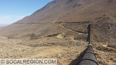 Los Angeles Aqueduct at Nine Mile Canyon in Inyo County.