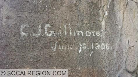 """Early """"graffiti"""" along US 6."""