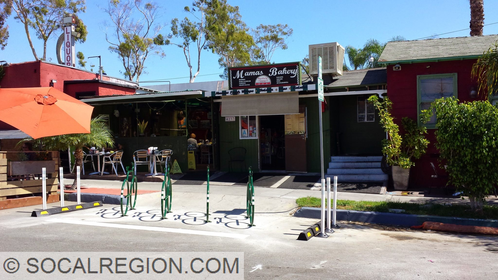 Bicycle parking in san diego southern california for Mama s kitchen san diego