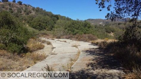 Old State 78 near Santa Ysabel with 1920's concrete.