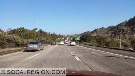 State 52 within San Clemente Canyon just east of I-5.